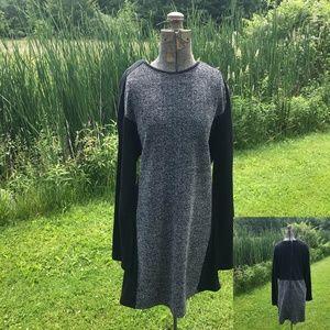 Lou & Grey Heathered Sweatshirt Dress